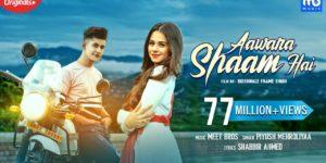 Aawara Shaam Hai Lyrics - Piyush Mehroliyaa | Manjul Khattar, Rits Badiani