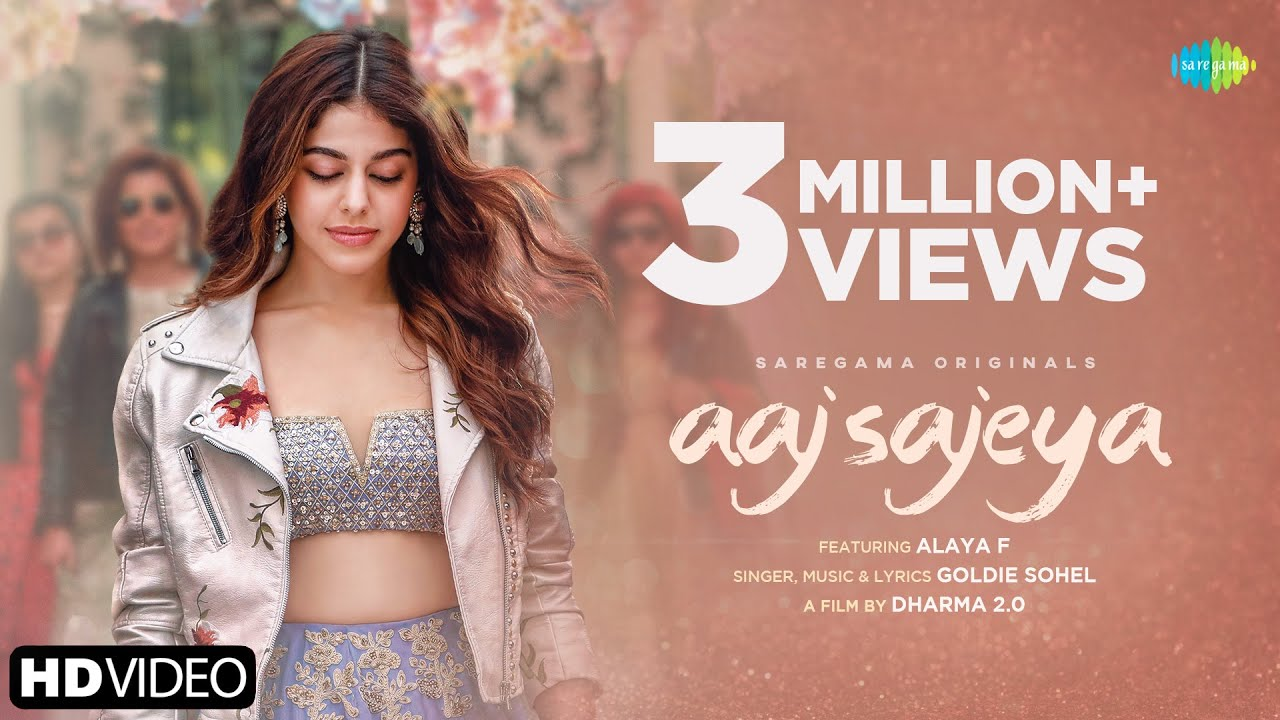 Aaj Sajeya Lyrics - Goldie Sohel | Alaya Furniturewala, Taha Shah Badussh